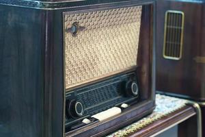 Vintage Radio Retro Technologie Hintergrund foto