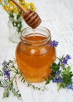 Honig und wilde Blumen foto