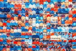 Zugnachtmarkt in bangkok foto