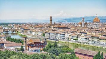 architektur in florenz stadt italien foto