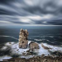 trübes Wetter auf dem Meer foto