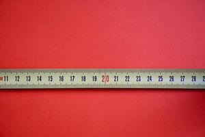 Linealbandwerkzeug messen foto