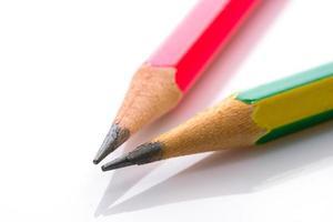 Bleistift auf weißem Acryl foto