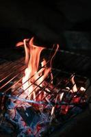 Kochen mit Feuer foto