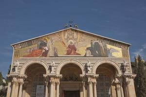 Kirche aller Nationen im Garten Gethsemane auf dem Ölberg, Jerusalem, Israel foto