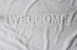 weißer Handtuchhintergrund foto
