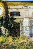 verlassenes Gebäude mit Efeu foto