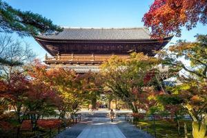 Nanzen Nanzenji oder Zenrinji Tempel in Kyoto in Japan foto