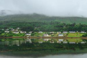 Landschaft von Loch Portree im Hochland von Schottland, Großbritannien foto