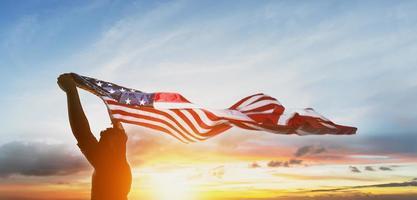 uns amerikanische Flagge foto