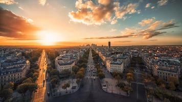 Paris-Panorama bei Sonnenuntergang foto