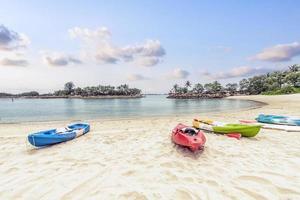 Siloso Beach auf der Insel Sentosa, Singapur foto
