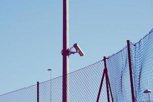 Überwachungskamera auf der Straße foto