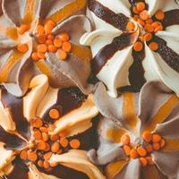 Eis, vier Geschmacksrichtungen. Eis Hintergrund. foto