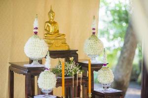 thailändische Hochzeitsdekoration foto