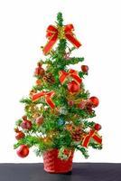 Weihnachten und guten Rutsch ins Neue Jahr Hintergrund auf weißem Hintergrund foto