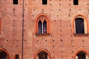 Detail der herzoglichen Palastfassade in Vigevano foto