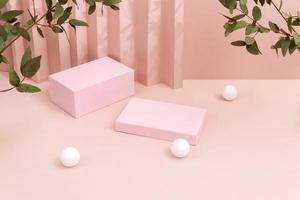 die kreative anordnung minimalistische bühne foto