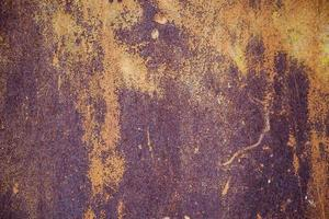 die Textur des alten rostigen Metalls. foto