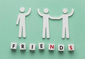 Draufsicht Komposition von Stillleben Freundschaft Tag Elemente day foto