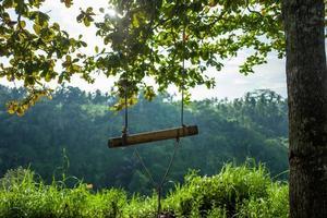 Schaukel beim Campuhan Ridge Walk in Ubud auf Bali foto