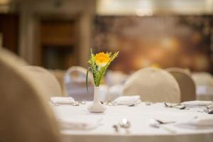 Hochzeitssaal oder andere Veranstaltungsräume für gehobene Küche foto
