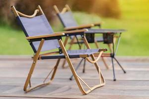 Gartenmöbel tragbarer Campingstuhl foto