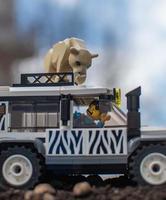 Warschau 2020 - Lego Minifiguren auf Safari foto