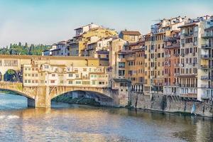 Ponte Vecchio Brücke in Florenz, Italien foto