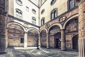 Architektur in Florenz Stadtflor foto
