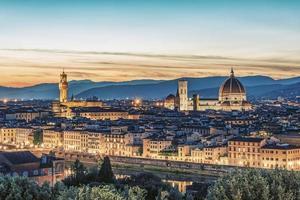 Florenz Stadtpanorama, Italien foto