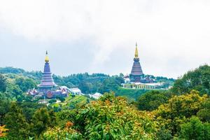 Wahrzeichen-Pagode im Nationalpark Doi Inthanon in Chiang Mai, Thailand. foto