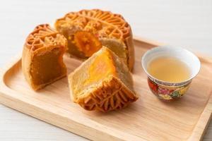 chinesischer Mondkuchen mit Durian- und Eigelbgeschmack foto