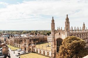 Erhöhte Ansicht der Stadt Cambridge, Großbritannien foto