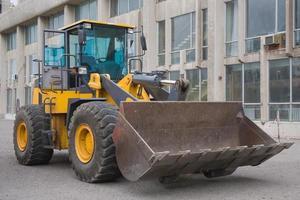 Bulldozer arbeiten auf einer Baustelle foto