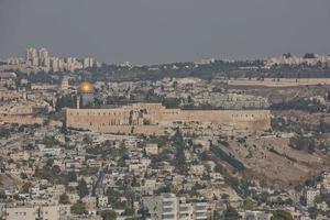 Blick auf die Altstadt von Jerusalem in Israel foto