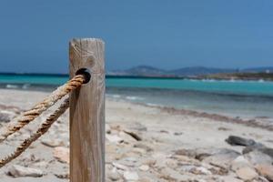 Strand von Ses Illetes auf Formentera, Balearen in Spanien foto