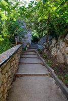 Treppe, die ins Land der Stifone führt foto