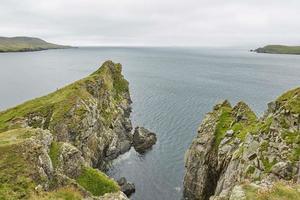 Blick auf die Küste in Lerwick, Shetland-Inseln, Schottland? foto