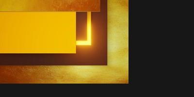 Goldbeschaffenheitshintergrund mit schwarzem und gelbem Rahmen foto