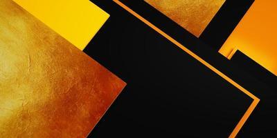 Goldstrukturierter Hintergrund mit schwarzem und gelbem Rahmen foto