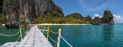 blaues Meer bei Koh Hong, Provinz Krabi, thailand foto