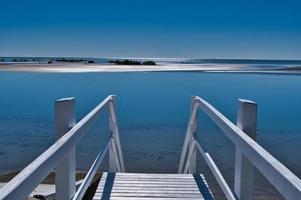 Treppe zum Strand von Toogoom foto