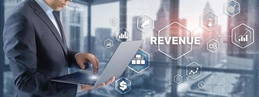 Einnahmen steigern Konzept. Planung von Wachstum und Steigerung der positiven Indikatoren in seinem Geschäft foto
