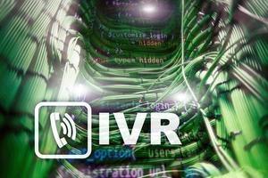 IVR interaktives Sprachantwort-Kommunikationskonzept. Serverraum foto