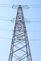 Hochspannungs-Energieturm für elektrische Sendemasten foto