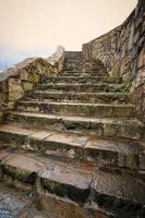 gemauerte Treppe im Freien foto