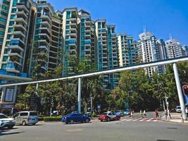 Mehrfamilienhäuser in der Stadt Shenzhen, China foto