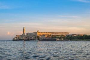 Morro Castle in Havanna, Kuba in der Abenddämmerung foto