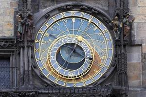 astronomische uhr an der wand des alten rathauses prag, tschechien foto